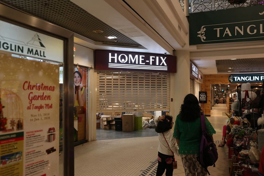 A Home-Fix store seen at Tanglin Mall on Dec 11, 2019.