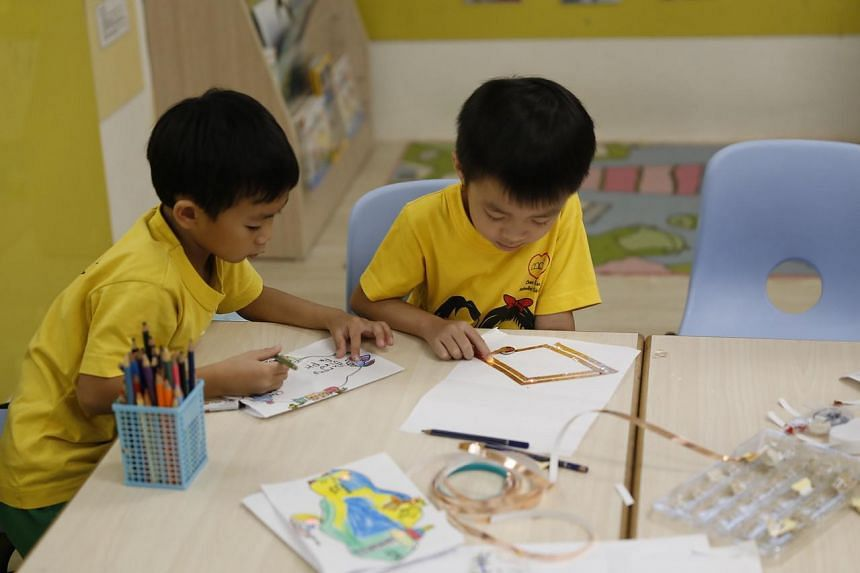 Preschool Market's CreArTech programme aims to encourage children to think out of the box using digital tools. PHOTO: PRESCHOOL MARKET