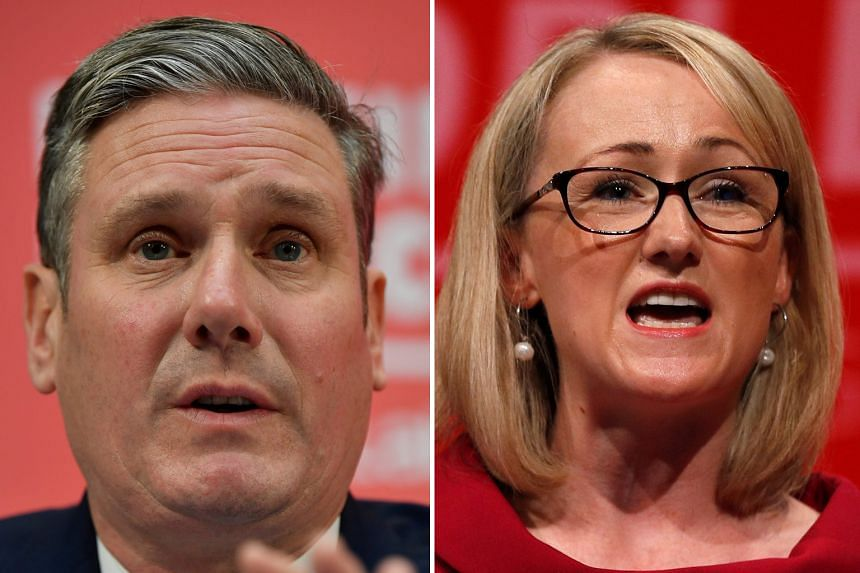 Left: KEIR STARMER: Currently the bookies' favourite, he has not always been loyal to Mr Corbyn.  Right: JREBECCA LONG-BAILEY: Loyal to the leadership, she hails from a constituency with a safe majority.