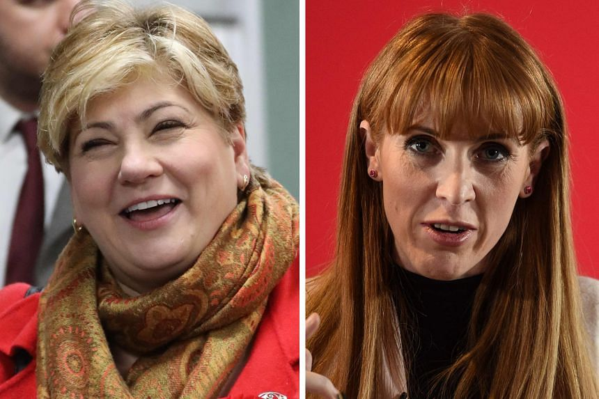 Left: EMILY THORNBERRY: A strong media performer with experience in senior leadership teams.  Right: ANGELA RAYNER: She has been at the forefront of the party's election campaign, leading rallies.