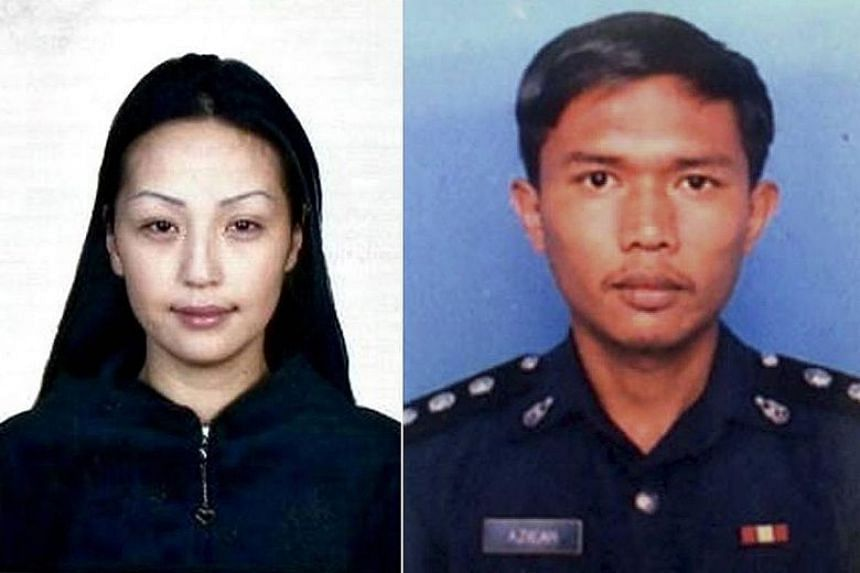 Azilah Hadri (right), who was sentenced to hang for killing model Altantuya Shaariibuu (left), claims the ex-PM gave him an explicit order to kill her.