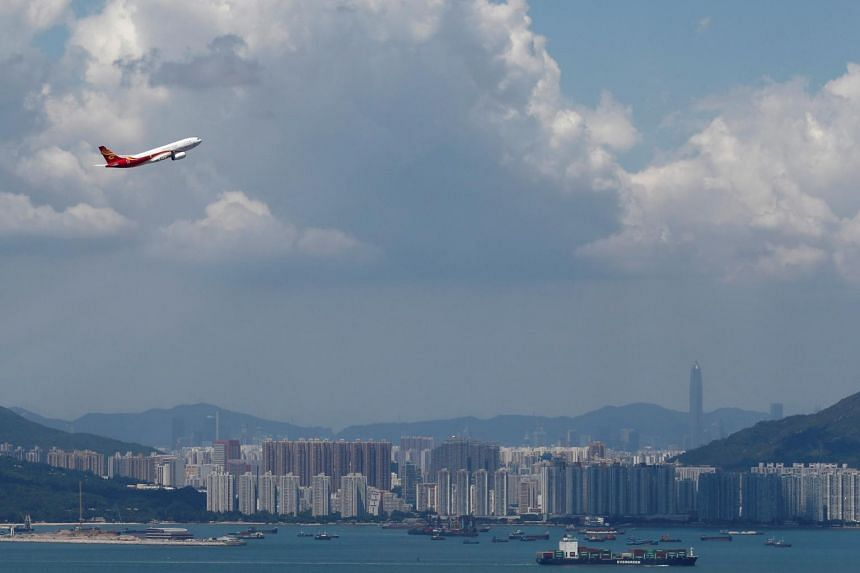 A Hong Kong Airlines plane takes off from the Hong Kong International Airport on Sept 6, 2019. The company's operations remain normal.