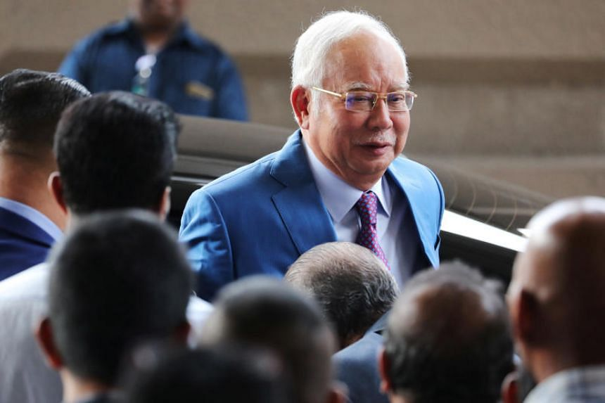 In a photo taken on Dec 3, 2019, former Malaysian prime minister Najib Razak arrives at Kuala Lumpur High Court.