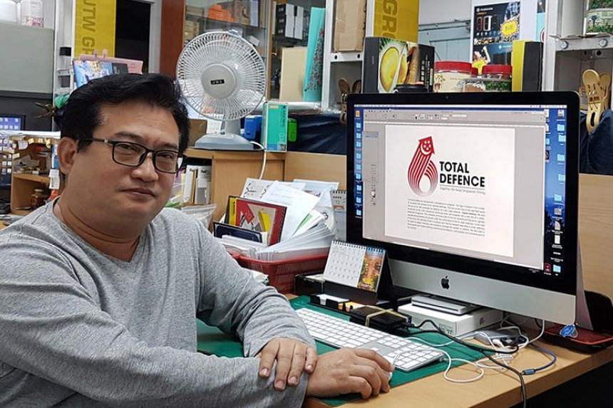Mr Koh Yoke Chye's Total Defence logo design is among the 10 shortlisted which the public can vote on till the end of the year.