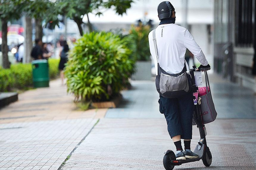 A $7 million package was rolled out to encourage PMD users affected by tightened curbs to switch to alternatives. ST PHOTO: KELLY HUI