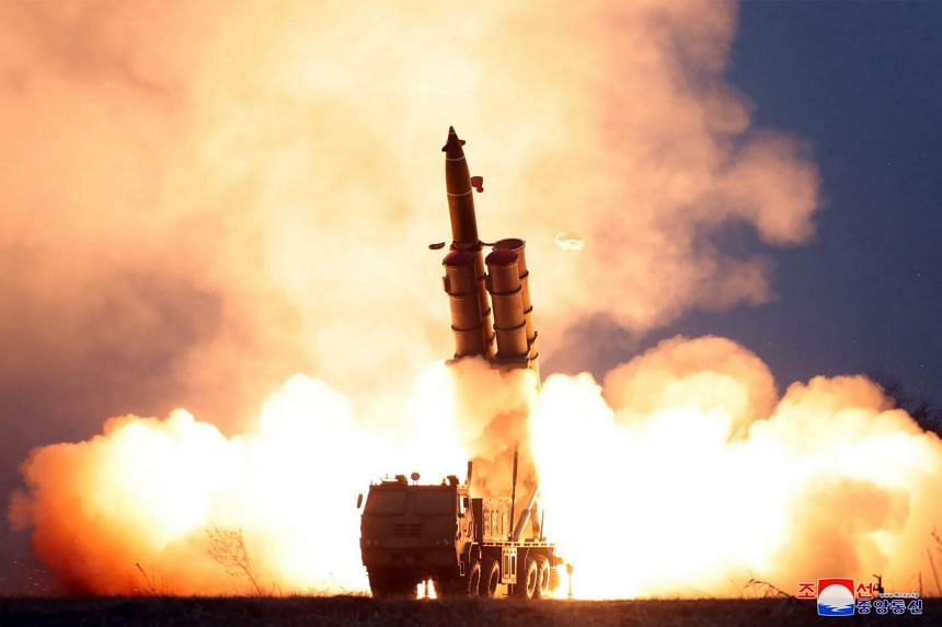 A super-large multiple launch rocket system is test-fired in a photo released on Nov 29, 2019.