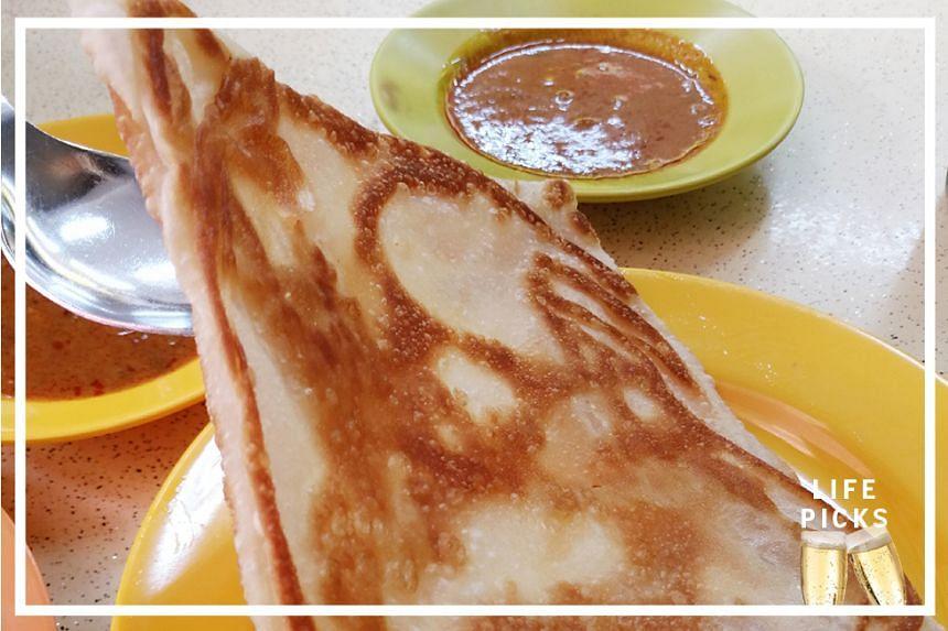 Crispy roti prata from Chindamani Indian Restaurant at Hougang Avenue 1.