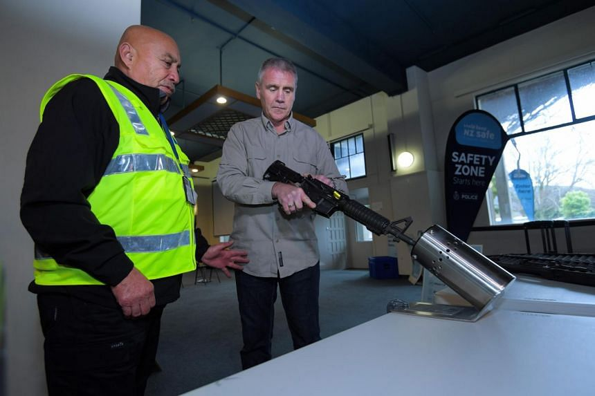 New Zealanders hand in 50,000 guns after the government banned assault rifles