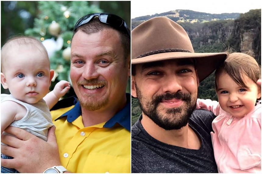 Volunteer firefighters Geoffrey Keaton (left) and  Andrew O'Dwyer were killed while battling bushfires on Dec 19, 2019.