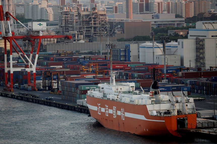 An industrial port in Tokyo. Japan had stepped up export controls against South Korea in July, citing a loss of trust and security concerns.