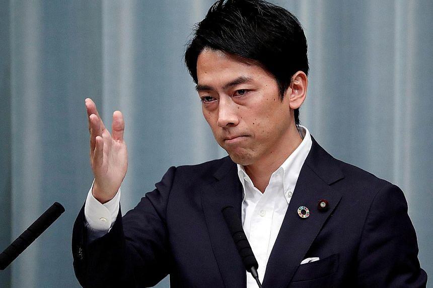 Mr Shinjiro Koizumi says ministries should coordinate efforts to wean Japan off coal and nuke power.