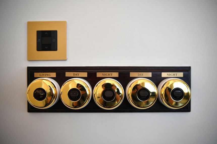 Switches at the hotel that date back to 1899.