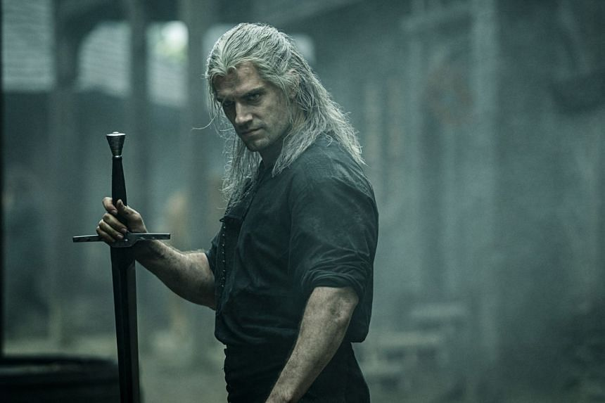 Actor Henry Cavill in a scene from The Witcher.