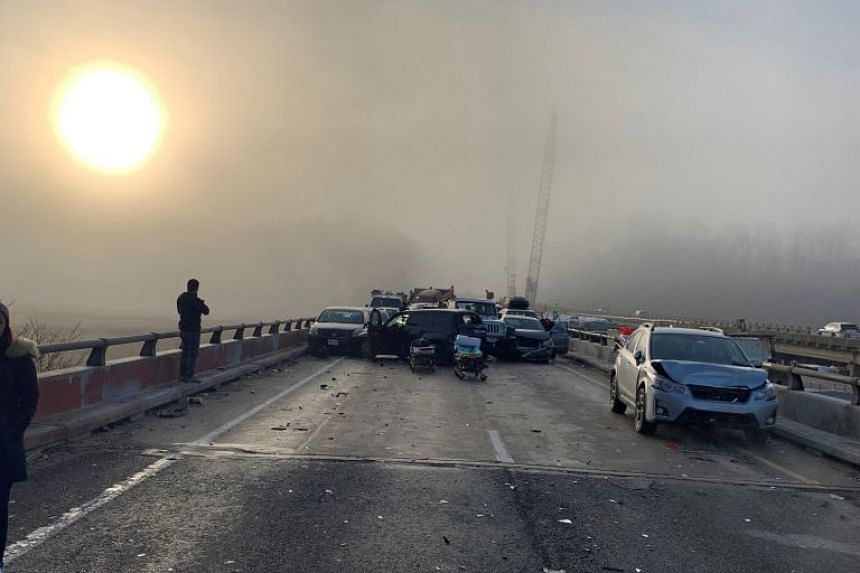 69 vehicles involved in chain-reaction crash that closed I-64