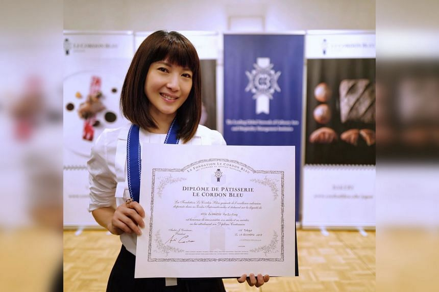 """Singapore actress Jeanette Aw posted a photo of herself with a certificate on Facebook, and wrote: """"It was a big decision to drop everything and just go study. So it's said it takes courage to pursue dreams and I guess that's true."""""""
