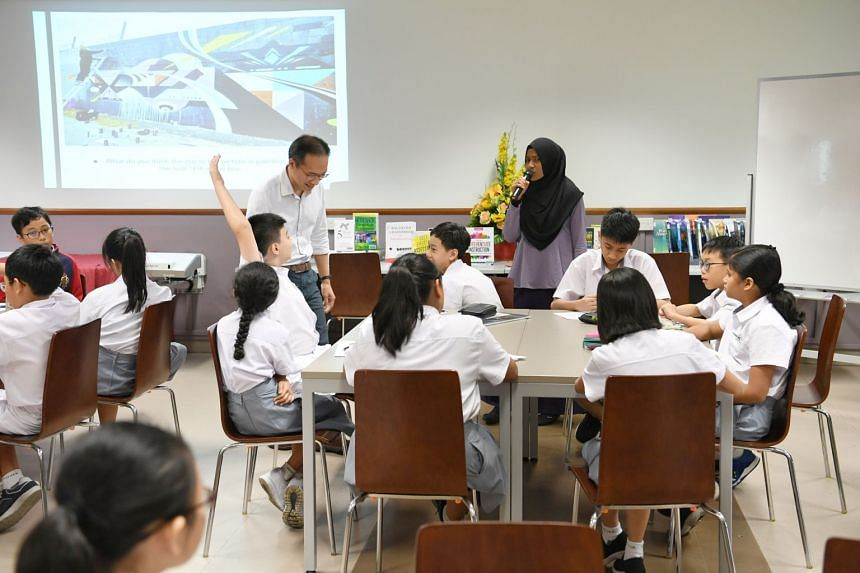 Edgefield Secondary School students in a classroom.