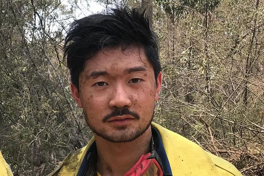 Singaporean Mark Yeong, who is a student at the University of Sydney, has been battling bush fires around Sydney as a volunteer firefighter with the Rural Fire Service about three times a week since the end of September.
