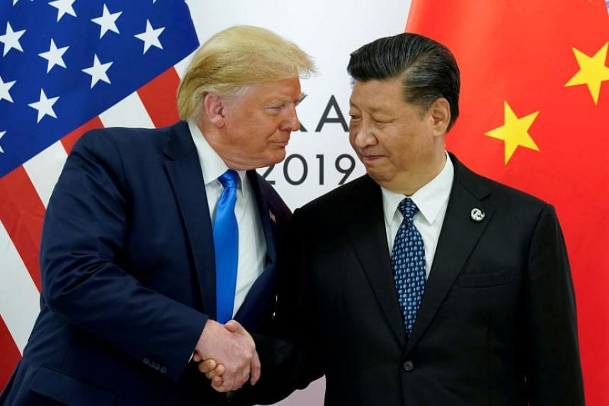 In this photo taken on June 29, 2019, US President Donald Trump meets with China's President Xi Jinping at the start of their bilateral meeting at the G20 leaders summit in Osaka, Japan.