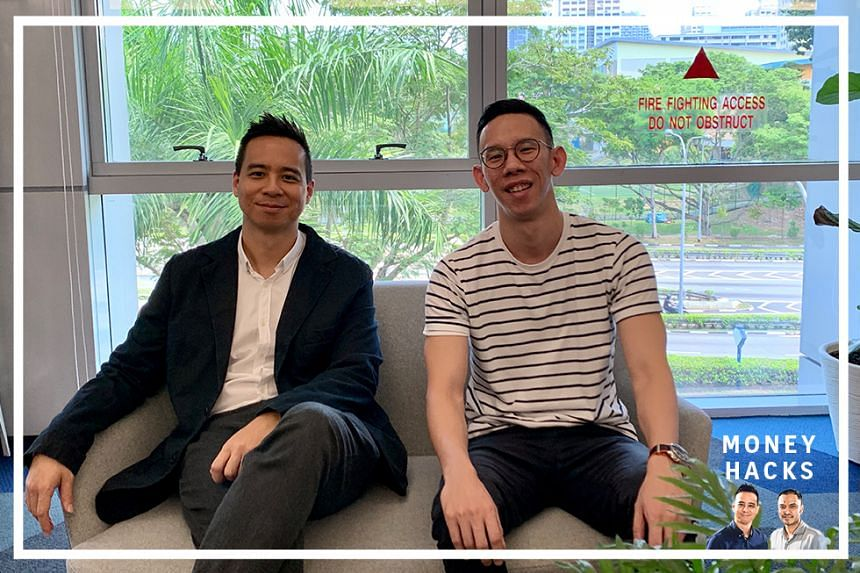 Host Chris Lim (left) speaks to Mark Cheng (right), media sales lead at financial comparison site MoneySmart.sg to understand credit cards and air miles better on this episode of Money Hacks.