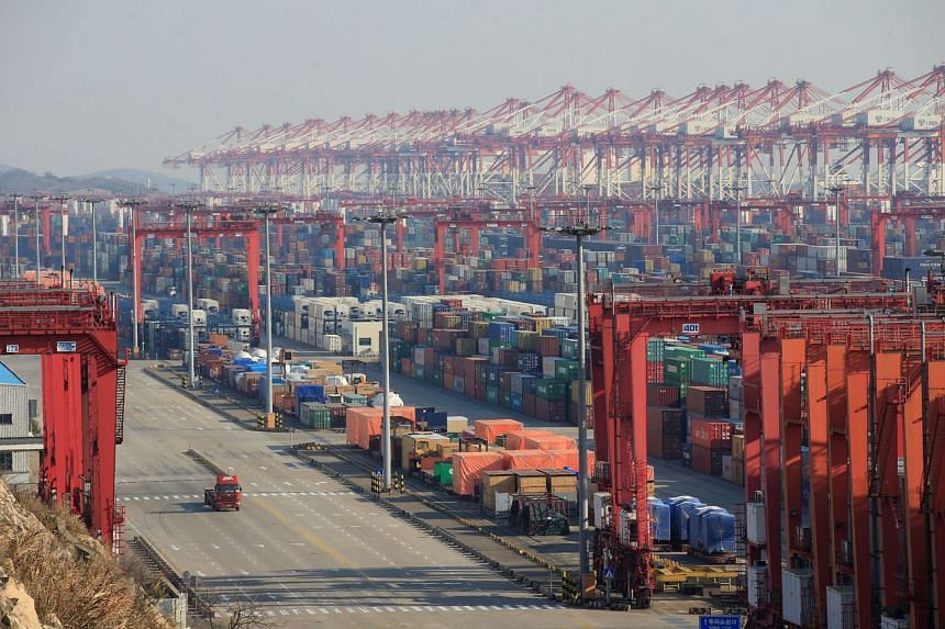 A port in Shanghai, China. The reductions come as tensions between the US and China have cooled over trade.
