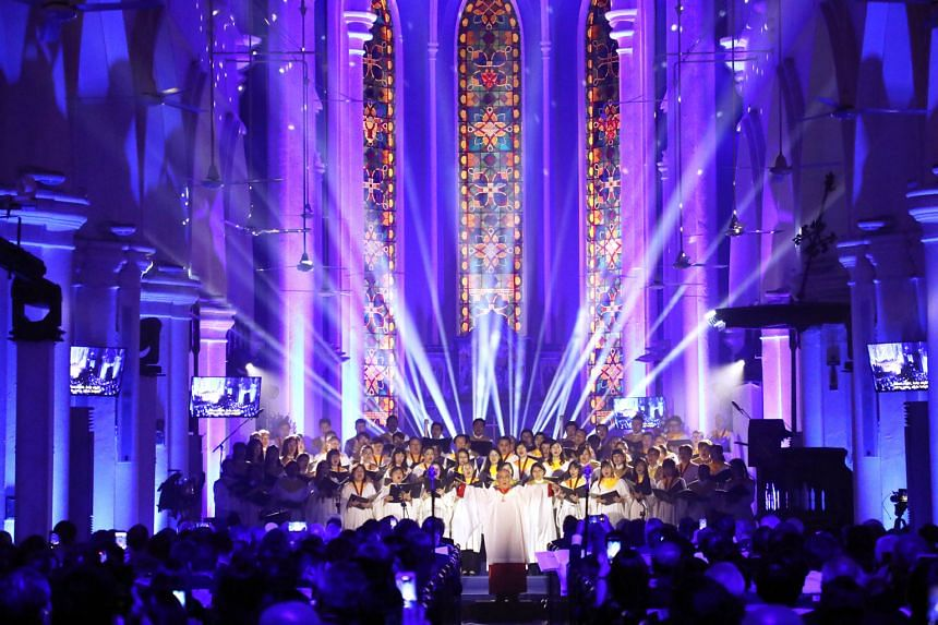 The Bicentennial Christmas Carols Service presented by St Andrew's Cathedral earlier this month.