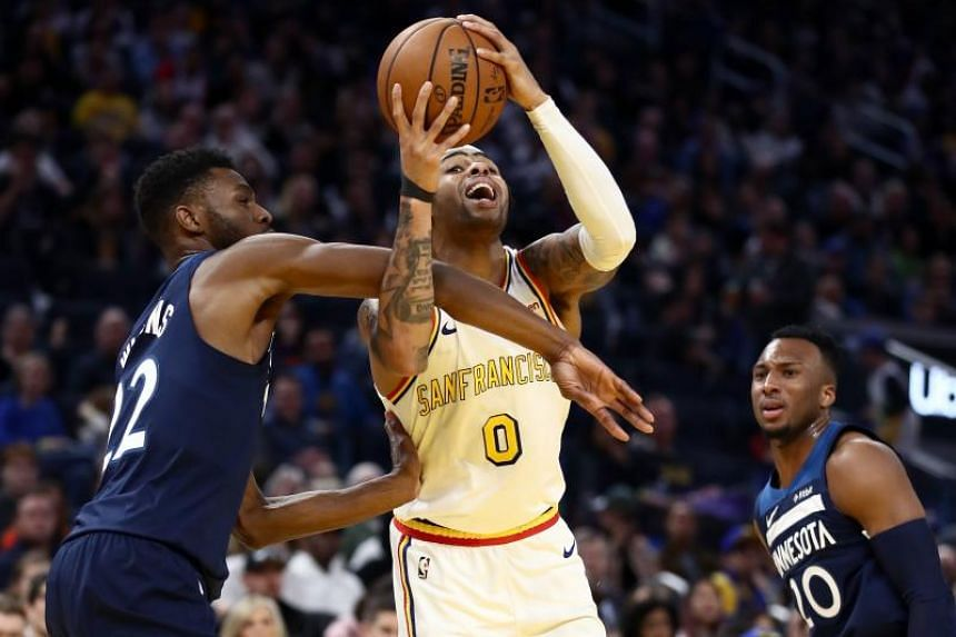 Russell on song as Warriors top Timberwolves 113-104