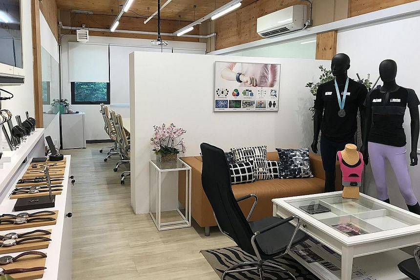 Mr Anthony Chow, co-founder and chief executive of smart lock company igloohome, says having the flexibility to move between office spaces at LaunchPad has been a great benefit. Smart wearables firm KaHa has a 1,700 sq ft space in LaunchPad. Its head