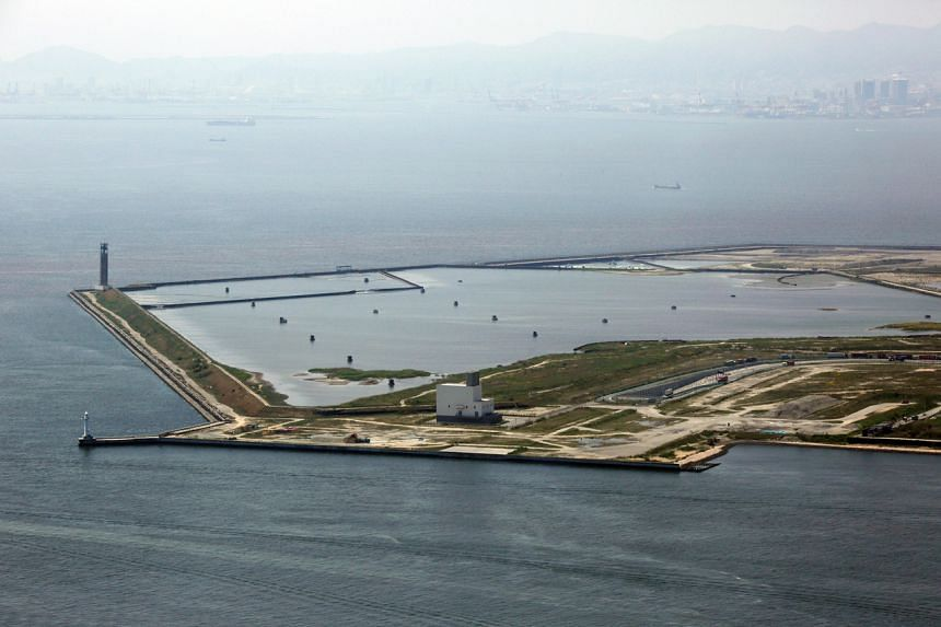 Yumeshima island in Osaka Bay in 2014. Osaka proposed the reclaimed island as a casino resort site, for what could potentially be Japan's first integrated resort.