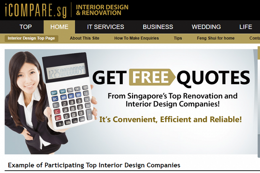 The database seen by The Straits Times was lifted from iCompare.sg, which promotes various services such as wedding photography, home loans and movers.