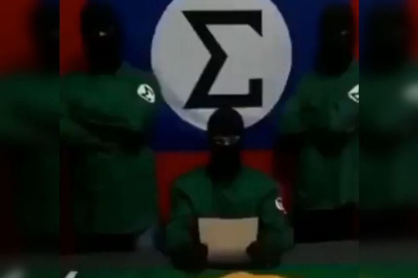 A screenshot from the video uploaded to social media.