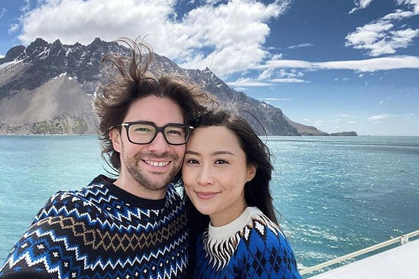 "SOUTH POLE, AHOY: Fala Chen's husband had a cool idea for their honeymoon. On Christmas Day, the former TVB actress braved the cold to hike in the Antarctica. In one photo posted online, she captioned: ""To the end of the world."" Other photos featured"