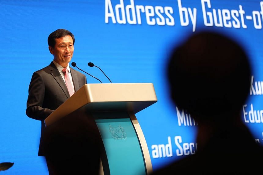 Education Minister Ong Ye Kung speaking at the annual Appointment and Appreciation Ceremony for Principals on Dec 27, 2019.