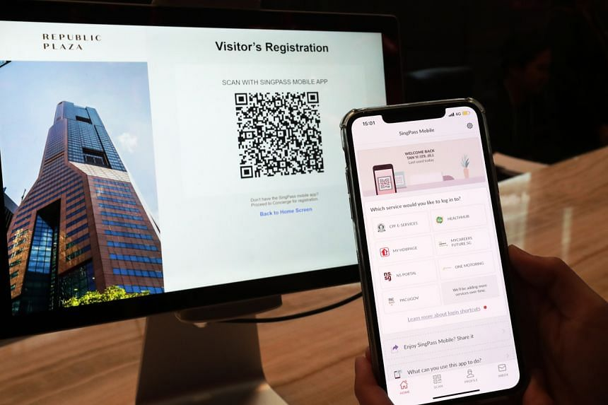 Through scanning a QR code using the app, visitors and patients allow their digital identity to be retrieved from the Government's database for registration.