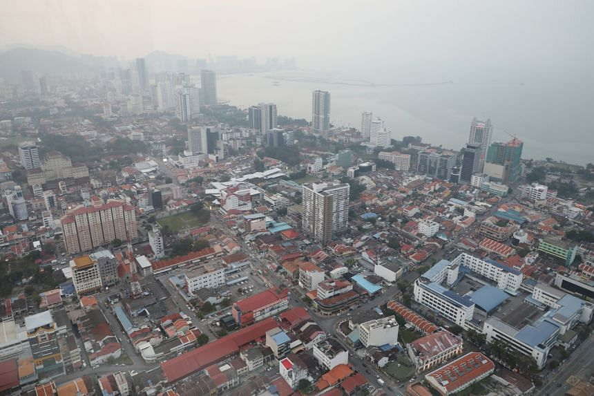 A general view of Penang skyline in Malaysia on Sept 20, 2019. The Promenade Walk along the waterfront would start from the Swettenham Pier in Esplanade up to the abandoned Tanjung City Marina.
