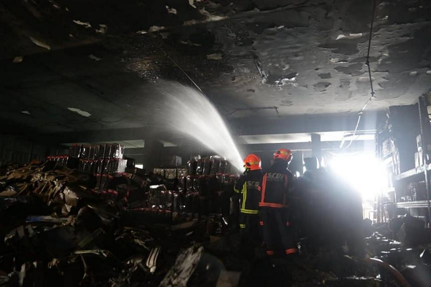 The fire broke out at a four-storey industrial building at 12.20am on Dec 28, 2019.