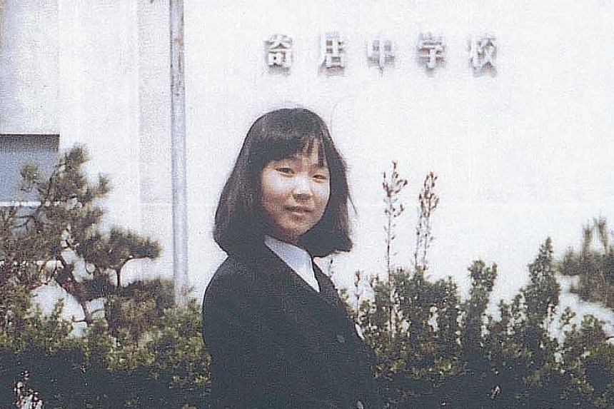Megumi Yokota was abducted at age 13 when she was on her way home from school on Nov 15, 1977. Today, she is the face of the Japanese government's efforts to demand the return of all its citizens abducted by North Korea. PHOTO: HEADQUARTERS FOR THE A