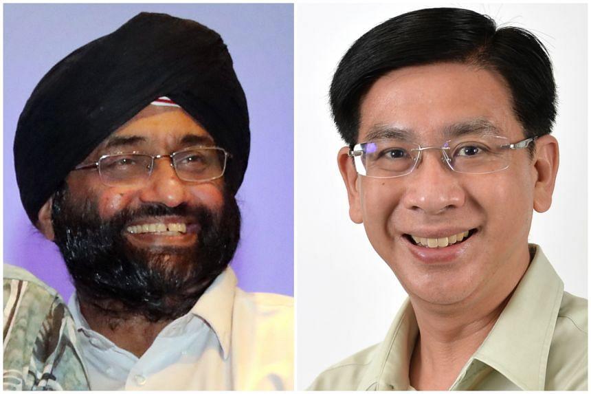 Associate Professor Bilveer Singh (left) and Jurong GRC MP Ang Wei Neng.