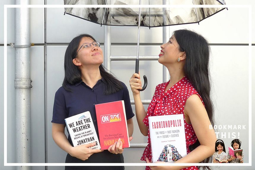 Life journalists Olivia Ho (right) and Toh Wen Li (left) check out three new books on the climate crisis: Naomi Klein's searing essay collection On Fire; We Are The Weather, in which Jonathan Safran Foer argues you can fight climate change by changin