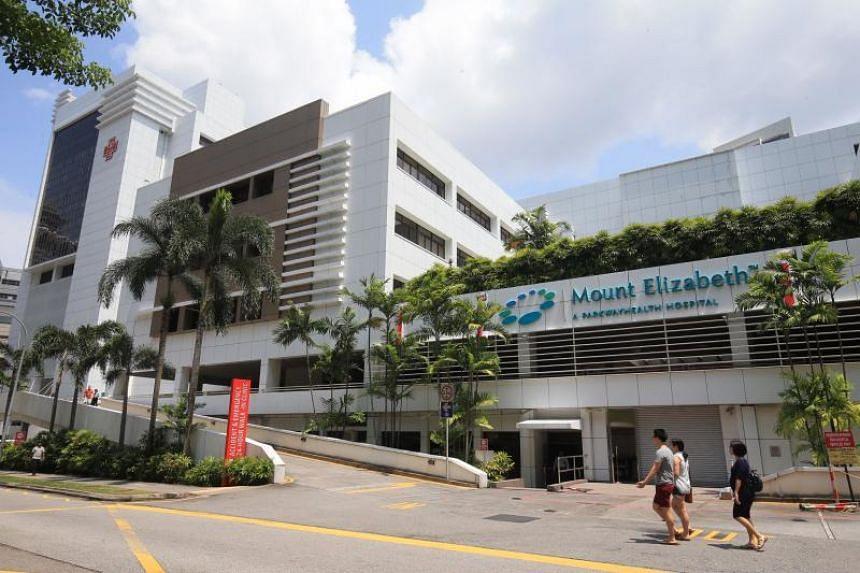 Mount Elizabeth Hospital in Orchard Road.