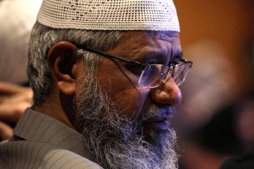 Indian Islamic preacher Zakir Naik seen during the Kuala Lumpur Summit on Dec 19, 2019.