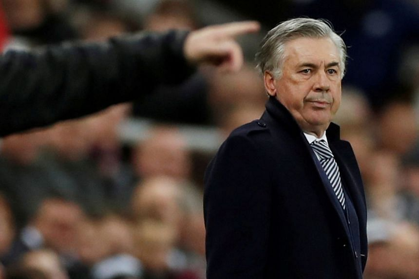 Everton manager Carlo Ancelotti during a match against Newcastle United.