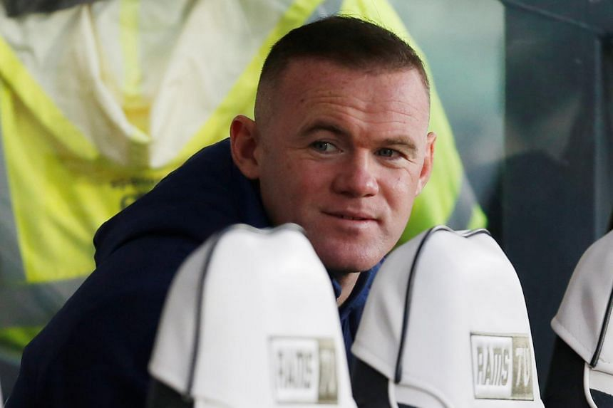Derby County player coach Wayne Rooney watches a match, on Nov 30, 2019.