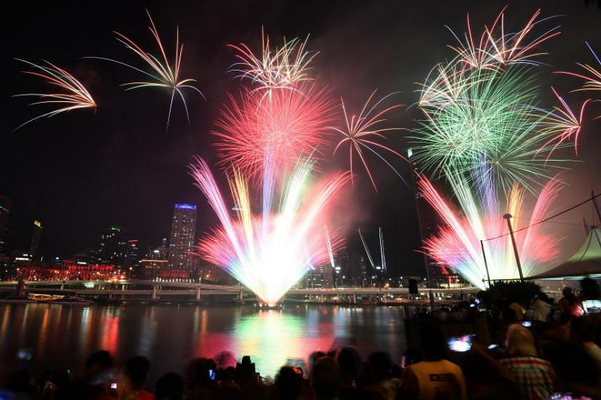 Fireworks display over Sydney Harbour as part of New Year's Eve celebrations in Sydney, Australia, on Dec 31, 2019.