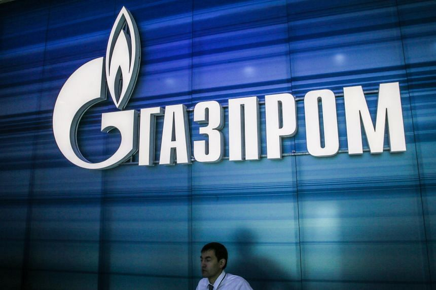 A view of the exhibition stand of the Russian Gazprom company in Russia on June 16, 2014. Getting a final deal done before the end of the year will appease energy traders across Europe.