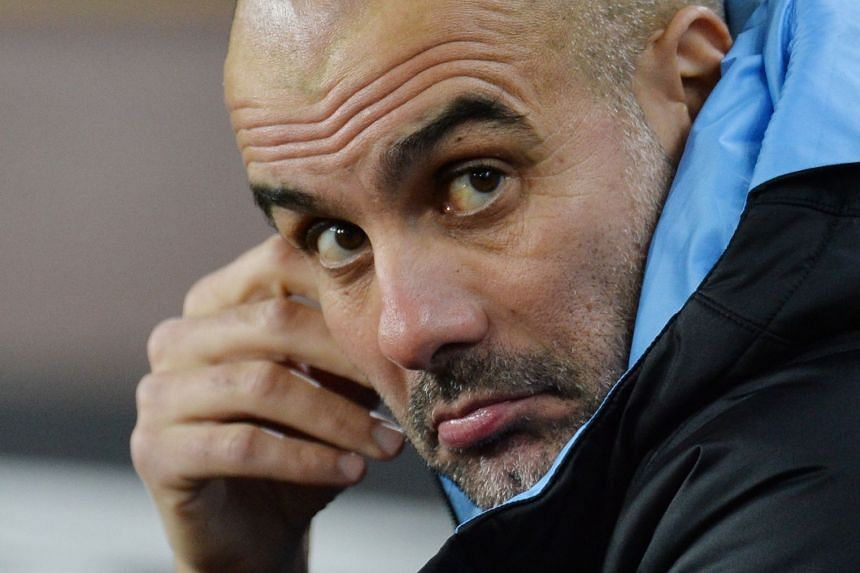 Guardiola (above) was speaking at a news conference ahead of City's league clash against 10th-placed Everton.