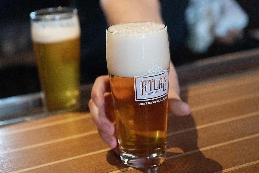 A beer at artisanal beer brewery Atlas Brew Works. In bars across the United States, India Pale Ales are the gold standard for beer lovers.