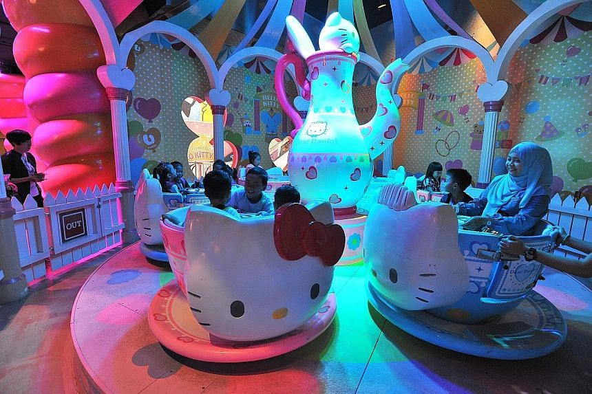 A teacup ride at Sanrio Hello Kitty Town in Iskandar Puteri, Johor Baru. The theme park, which opened in 2012, closes down from today.