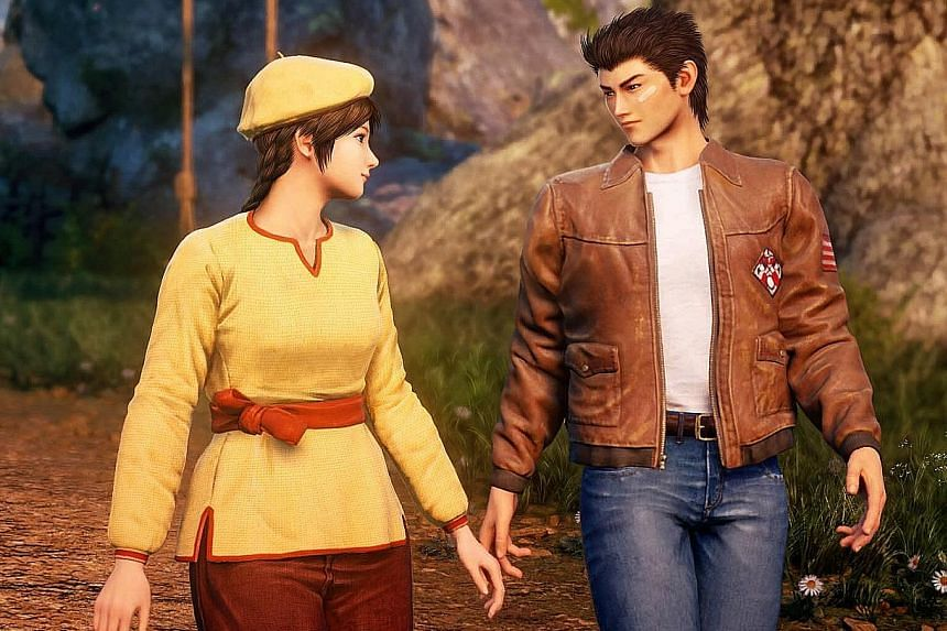 In Shenmue III, much of the gamer's time is spent walking around and talking to people as protagonist Ryo Hazuki, with Ling Shenhua (both left), continues his search for his father's killer.