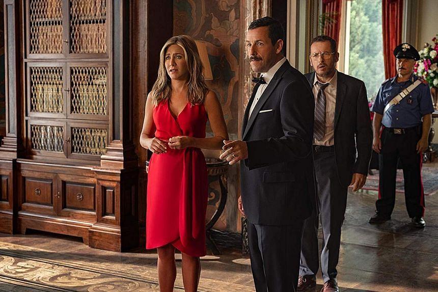 Murder Mystery stars Jennifer Aniston and Adam Sandler.