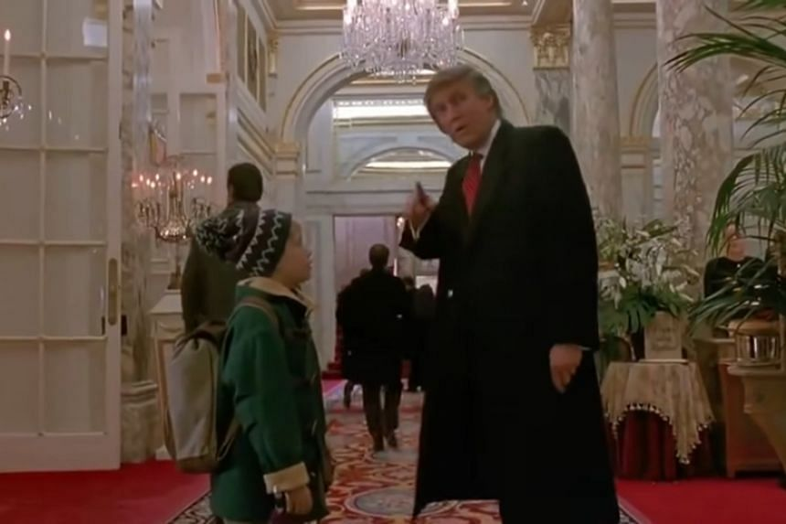 When CBC recently aired the 1992 Christmas film, some viewers and Canadian media outlets noticed US President Donald Trump's scene had been cut out.